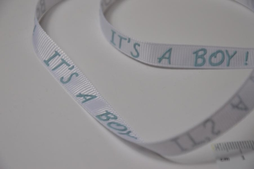 "Ripsband ""It´s a boy"" mint"